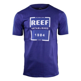 Remera Reef The Balance Hombre Azul