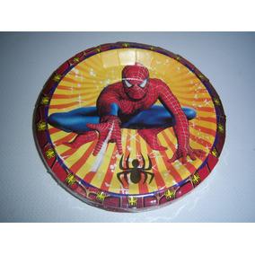 Invitaciones Platos Vasos Dulceros Hombre Araña Spiderman