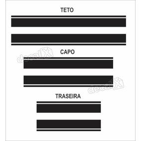 Kit Adesivo Faixas Capo, Teto E Mala Volkswagen Up Imp152