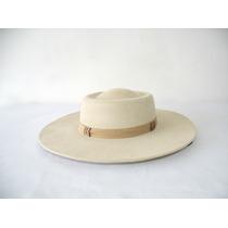 Gg - Chapéu Campeiro Minuano Cor Marfim Aba 10cm+barbicacho