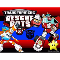 Kit Imprimible Transformers Rescue Bots, Invitaciones
