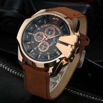 Relógio Masculino Super Speed V6 Esportivo Pulseira De Couro