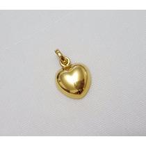 Pingente Coração De Ouro Amarelo 18k 750