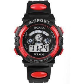 Reloj Digital Honhx Color Rojo Mujer O Niño