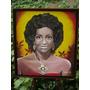 Retrato De Celia Cruz Años 50 En Acrilico