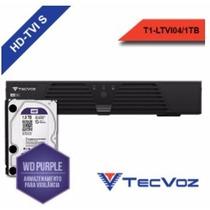 Dvr Tecvoz 04 Canais 720p Ltvi-04 + Hd Purple 1tb
