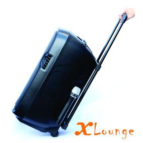 Caixa Som Ativa Xlounge Bluetooth Bateria Rodinha Portátil