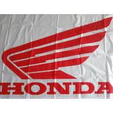Bandera Motos Honda Fondo Blanco 0,75m X 1,50m