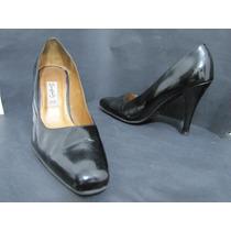 Zapatos Tanguis Cuero Negro Charol Talla 38 Envío Gratis¡¡