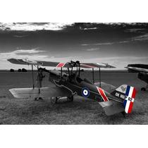Poster Fotografía Arte Avión Biplano Color Aislado 50 X 73