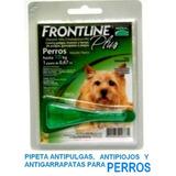 6 Pipetas Anti Pulgas Frontline Perro 10 Kg - Envio Gratis