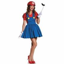 Disfraz De Mario Bros Para Damas Envio Gratis