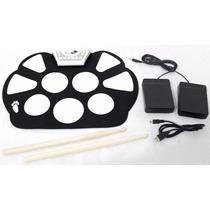 Bateria Eletrônica Roll Up Drum Kit Silicone Enrolável Promo