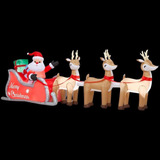 Genial Set De Santa Clause Y Renos Inflables Iluminables !