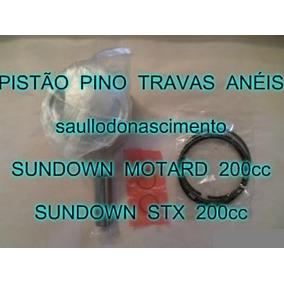 Kit Pistão Moto Sundown Stx 200cc E Motard 200cc