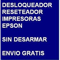 Desbloqueador Reset Impresora Epson Tx130 Envio Por Internet
