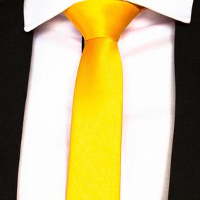 Gravata Amarelo Lisa Ouro Para Padrinhos Festa De Casamento