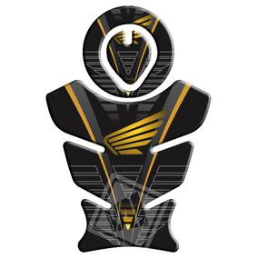 Protetor De Tanque E Boca Honda Bros/xre/tornado Amarelo 2