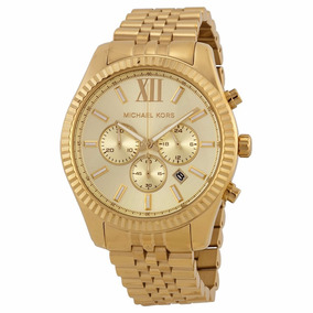 Reloj Michael Kors Caballero Modelo Mk8281 Lexington- Dorado
