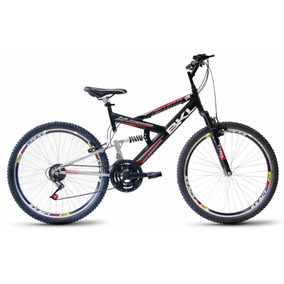Bicicleta Bikeland Full Suspension Aro 26-21 Marchas Preto