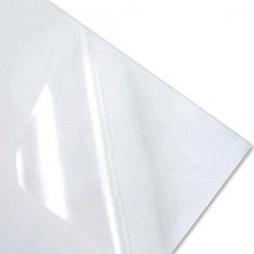 100 Adesivos Vinil Transparentes P/ Impressoras Laser A4