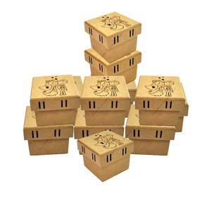 50 Caixas De Noivos Corte Desenho Passa Fita 7x7x5,5 Mdf