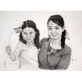 Arte Dibujos Retratos Realistas A Mano Con Lapiz De Grafito