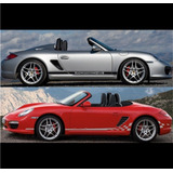 Sticker Vinil Tuning Franja Lateral Decals Porche Boxter