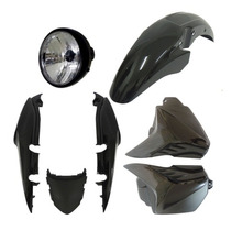 Kit Carenagem+ Farol Completo Fan 150 Preto 09 A 13