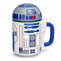 Star Wars R2-d2 Taza De Ceramica Con Tapa 20oz Nueva No Bb-8