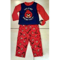 Pijama Remera M/l + Pantalon Angry Birds T. 3 Importado
