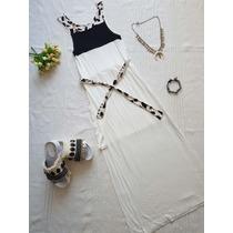 Maxi Vestido Largo Modal, Animal Print, Maxi Tajos,noche Dia