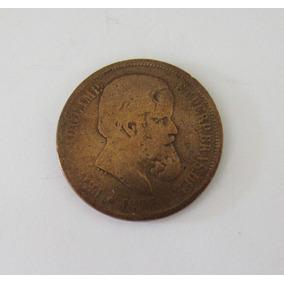 Moeda Antiga 40 Réis 1875 Bronze Petrus I I Bc Numismática