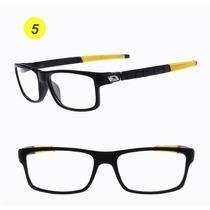 Armação Óculos Grau Acetato Esportivo Masculino Flexível Fa