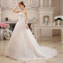Vestido Novia Con Cola Nuevo Matrimonio