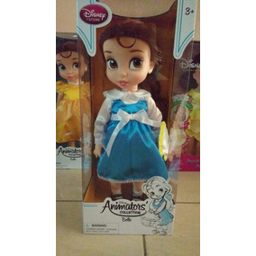 Disney Animator Muñeca Bella Vestido Azul Princesa Original