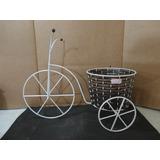 #11924 - Bicicleta Porta Vaso Grande, Em Junco Escuro!!!