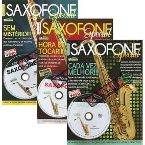 Super Curso Saxofone 3 Revista + 3 Dvd Especial - Promoção!