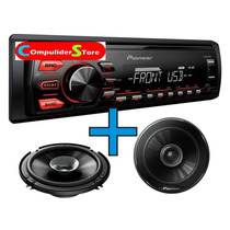 Combo Stereo Pioneer 075 / 085 Usb Am Fm + Parlantes 6,5