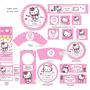 Kit Imprimible Hello Kitty Candy Bar, Invitaciones Nuevo