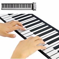 Teclado E Piano Flexível Roll Up 128 Synthesizer ,