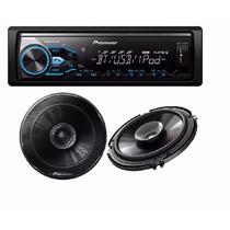 Auto Estereo Mp3 Pionner Bluetooth Usb 50wx4 + 2 Bocinas