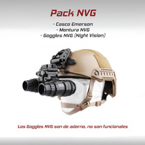 Pack Nvg Lentes Vision Nocturna Casco Tactico Militar Gotcha