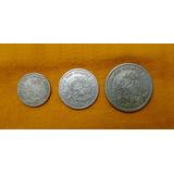 3 Moedas 1901 Série Completa 100 200 E 400 Réis Mcmi
