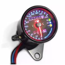Painel Universal Velocímetro Moto Custom Café Racer Preto 04