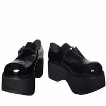 Sapato, Plataforma, Envernizado Bn-037.