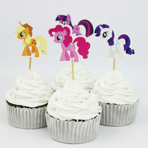 Fiesta 24 Toppers Cupcakes Pastel My Little Pony