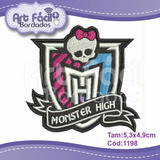 Matriz Bordado Caveira Monster High 8,7x9,2cm Cód.1198