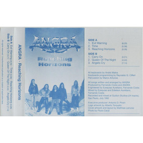 Angra - Reaching Horizons - Encarte Original Do K7