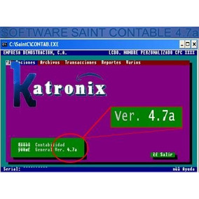 Software Programa Saint Contable 4.7a, Contabilidad No Vence
